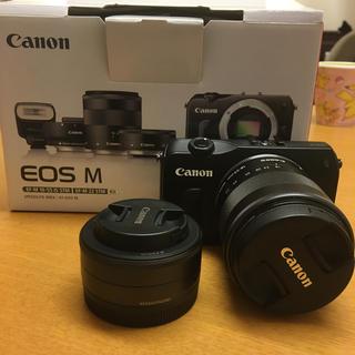 Canon - キャノン 一眼レフ カメラ Canon EOS M ダブルレンズ セット