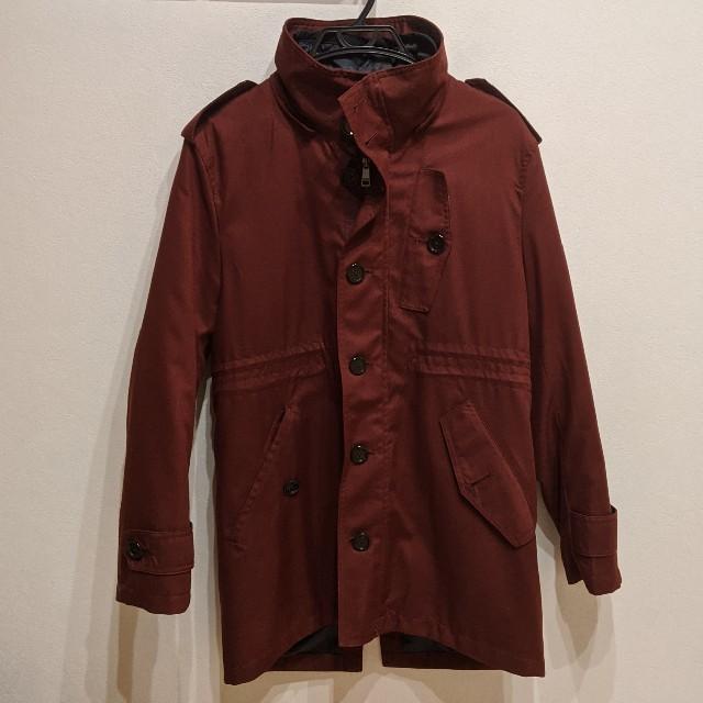 BURBERRY BLACK LABEL(バーバリーブラックレーベル)のKSC24さん専用 バーバリーブラックレーベル コート サイズM  ワインレッド メンズのジャケット/アウター(トレンチコート)の商品写真
