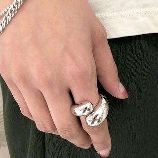 トゥデイフル(TODAYFUL)のボリュームフォークリング シルバーリング R0046(リング(指輪))