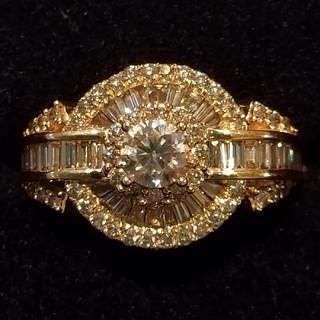 ダイヤモンド リング 指輪 ブラウン(リング(指輪))