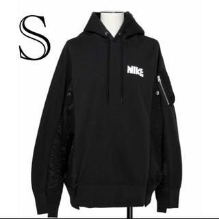 サカイ(sacai)のサイズS Nike  sacai  パーカー 黒 値下げ不可(パーカー)