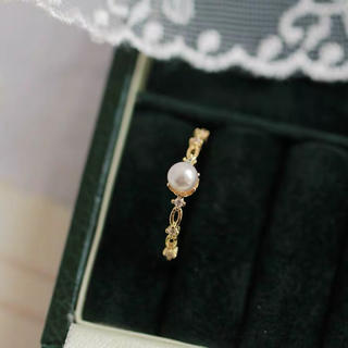 細身リング 指輪 CZダイヤモンド レディース (リング(指輪))