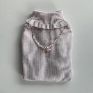 リズリサ(LIZ LISA)のLIZLISA リズリサ タートルネック セーター ピンク アクセサリー 付き(ニット/セーター)