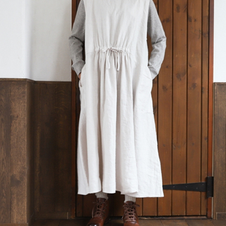 nest Robe - 起毛リネンドロストワンピース
