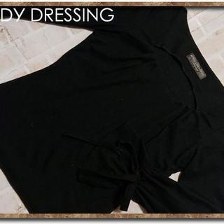 ボディドレッシングデラックス(BODY DRESSING Deluxe)のボディドレッシング リボン付き付きニット 黒(ニット/セーター)