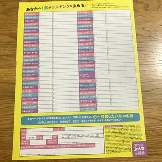 ジャニーズジュニア(ジャニーズJr.)のMyojo Jr.大賞 応募用紙(アート/エンタメ/ホビー)