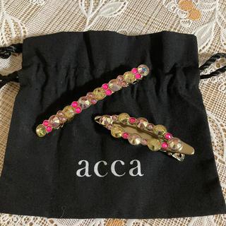 acca - acca ベリー 限定デザイン 7cmバレッタ&アーモンドクリップ 新品極美品