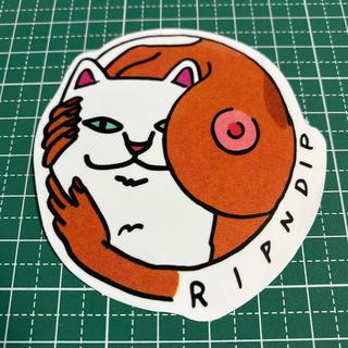 ステッカー ネコ 猫 RIPNDIP(スケートボード)