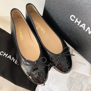 CHANEL - CHANEL バレエシューズ フラットシューズ 靴 パンプス パテント カーフ