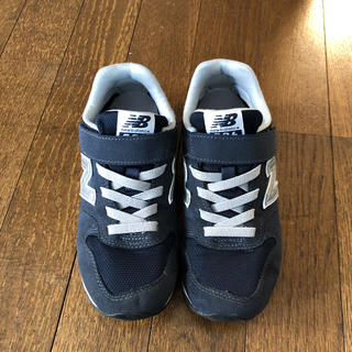 New Balance - ニューバランス スニーカー キッズ 21 靴 ネイビー 紺 マジックテープ