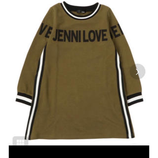 JENNI - JENNI LOVE サイドライン ロゴ ワンピース カーキ