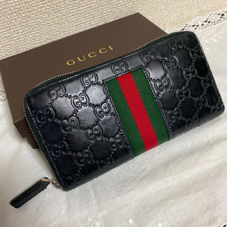 Gucci - GUCCI グッチ ラウンドファスナー 長財布 GGロゴレザー シェリーライン