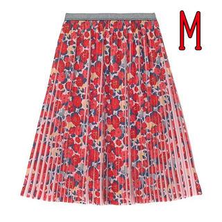 キャスキッドソン(Cath Kidston)のプリーツ ミディスカート カモフラワー キャスキッドソン Mサイズ 花柄(ひざ丈スカート)