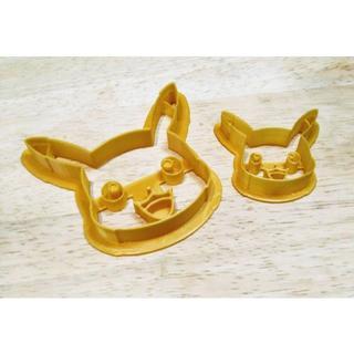 【新品未使用】ポケモン ピカチュウ クッキー型 大小セット(海外輸入品A)
