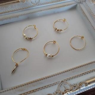 ジーナシス(JEANASIS)のワイヤーリング5個セット(•ᵕᴗᵕ•)❁⃘(リング(指輪))