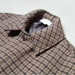 COMOLI - yoke DOUBLE JQUARD KNIT BAL COLLAR COAT