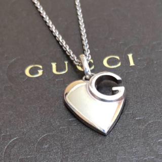 Gucci - GUCCI Gカット ハート ネックレス
