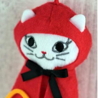 カルディ(KALDI)のハロウィン2020    カルディくたくた白ネコ赤ずきんちゃん(菓子/デザート)