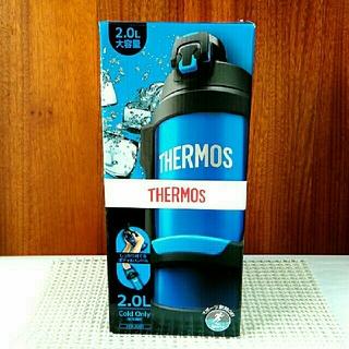 サーモス(THERMOS)の【新品未使用品】2.0L アイスブルー ハンドル付き スポーツジャグ サーモス(弁当用品)