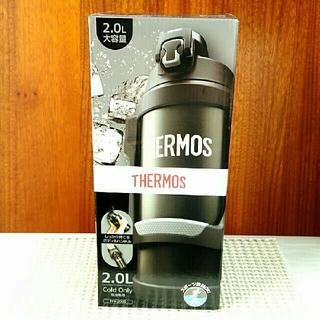 サーモス(THERMOS)の【新品未使用品】2.0L ブラックグレー ハンドル付き スポーツジャグ サーモス(弁当用品)