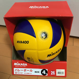 MIKASA - 美品中古 ミカサ バレーボール 4号球 検定球 MVA400 中学生 ママさん向