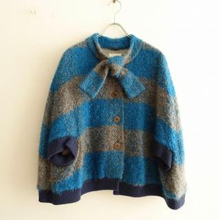mina perhonen - 美品 サリースコット ポンチョ ブルゾン セーター コート