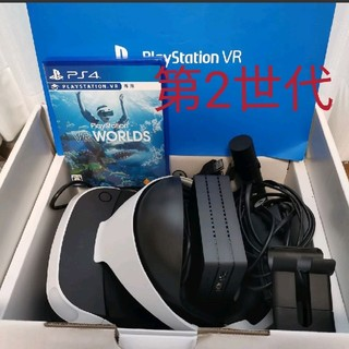 プレイステーションヴィーアール(PlayStation VR)のPS VR CUH-ZVR2 VRWORLDS,カメラ同伴版  PSVR (家庭用ゲーム機本体)