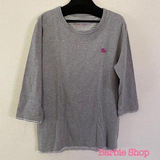 バーバリーブラックレーベル(BURBERRY BLACK LABEL)のバーバリーブラックレーベル グレー七分袖(Tシャツ/カットソー(七分/長袖))
