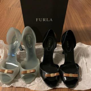 フルラ(Furla)のFurla オープントー ラバーパンプス 2足セット(ハイヒール/パンプス)