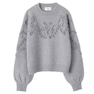 STUDIOUS - TAPE EMBROIDERY KNIT TOPS