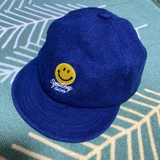 シマムラ(しまむら)のスマイル ベビー 帽子 キャップ 50-52 デニム  ハット(帽子)