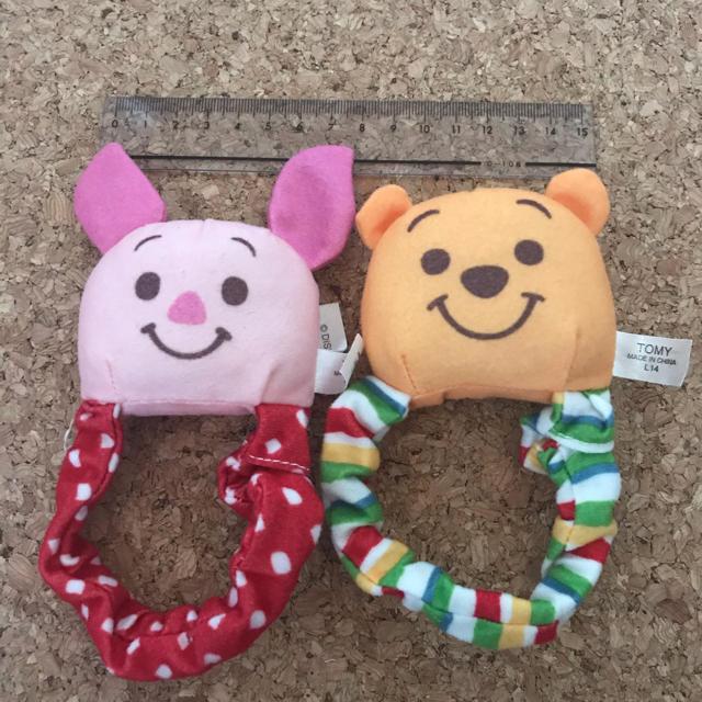 くまのプーさん(クマノプーサン)のピグレット& プーさん ガラガラセット キッズ/ベビー/マタニティのおもちゃ(がらがら/ラトル)の商品写真