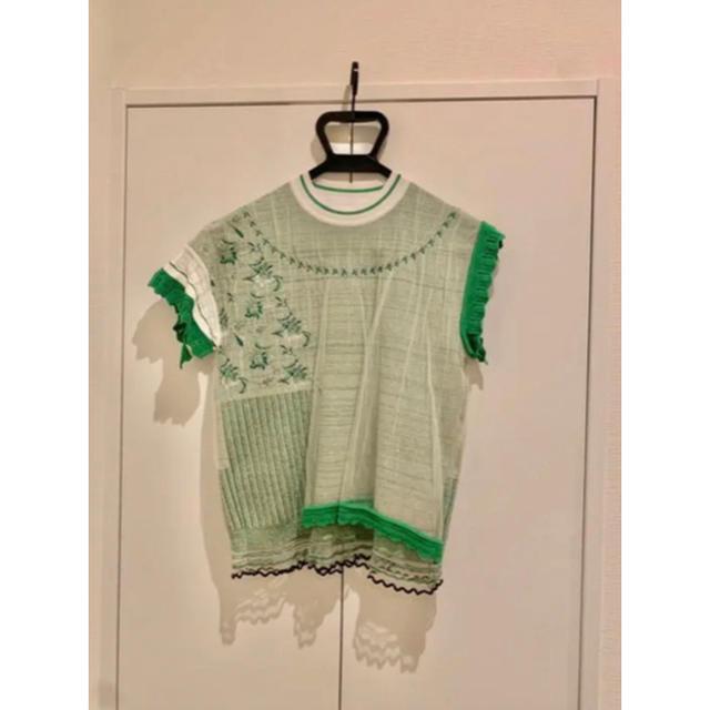 mame(マメ)のmame Cocoon Layered Knit Jacquard Tops レディースのトップス(カットソー(半袖/袖なし))の商品写真