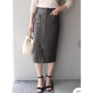 ノーブル(Noble)の ダブルクロスフープジップタイトスカート 36(ひざ丈スカート)