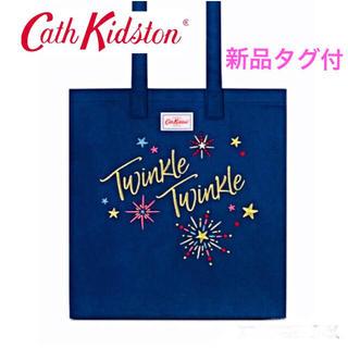 キャスキッドソン(Cath Kidston)のキャスキッドソン☆コットン ブッグバッグ トートバッグ ネイビー 送料無料(トートバッグ)