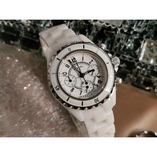 腕時計 J12 ノベルティ 黒  白  41mm/34mm  電池式