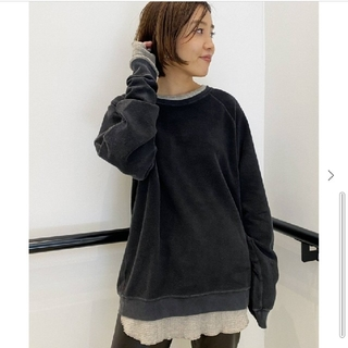 L'Appartement DEUXIEME CLASSE - 【REMI RELIEF】REVERSIBLE SWEAT/ブラック