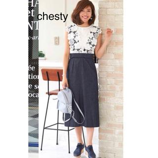Chesty - チェスティ フラワーレースジャンパースカート