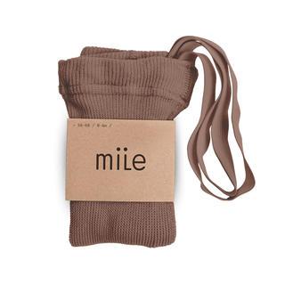 Caramel baby&child  - mile 肩紐付きタイツ ヘーゼルナッツ 0-6M