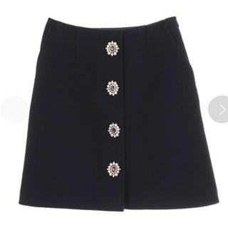 31 Sons de mode - 31 Sons de mode ビジュー付き台形スカート 36サイズ