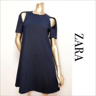 ZARA - ZARA ショルダーオープン ワンピース*ミスティック LOWRYSFARM