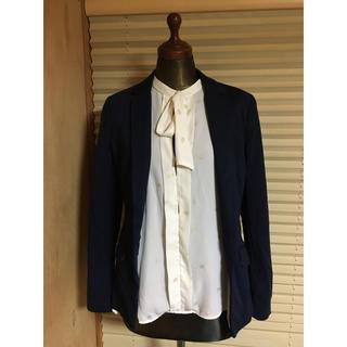 エイチアンドエム(H&M)のH&M 34 ストレッチジャケット スーツ xs s ネイビー ジャケット(テーラードジャケット)