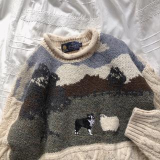 EDIT.FOR LULU - 犬と羊の刺繍ニット