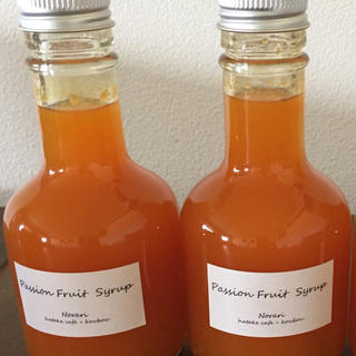 パッションフルーツシロップ(缶詰/瓶詰)