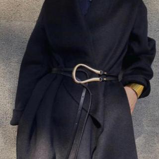 ドゥーズィエムクラス(DEUXIEME CLASSE)のBuckle belt バックル大 ブラック×ゴールド(ベルト)