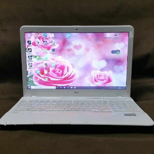 NEC(エヌイーシー)の高スペック/第3世代 i7/4コア/高速 SSD/LaVie/ノートパソコン スマホ/家電/カメラのPC/タブレット(ノートPC)の商品写真