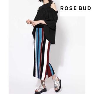 ローズバッド(ROSE BUD)のROSE BUD ニットタイトスカート(ロングスカート)