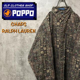 Ralph Lauren - チャップスラルフローレン☆ポケットロゴタグエスニック柄レトロ総柄シャツ 90s