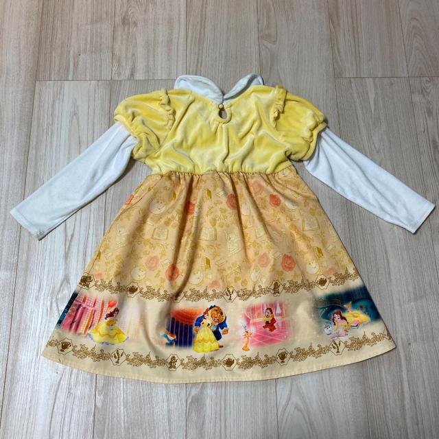 Disney(ディズニー)の女児 ディズニー 美女と野獣 ベル ドレス風ワンピース 110 キッズ/ベビー/マタニティのキッズ服女の子用(90cm~)(ワンピース)の商品写真