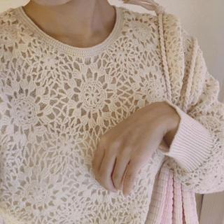 エディットフォールル(EDIT.FOR LULU)のvintage❤︎crochet lace×mohair sweater(ニット/セーター)